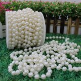 10m/Roll 8mm Artificial Pearl Beads String Curtain Hanging Bead Curtain Wedding Club Party Decoratio